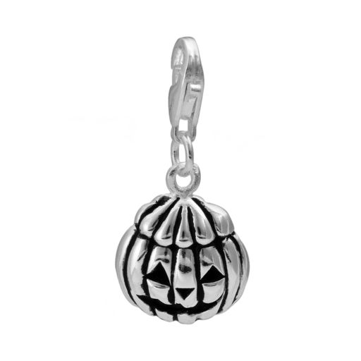 Personal Charm Sterling Silver Pumpkin Charm