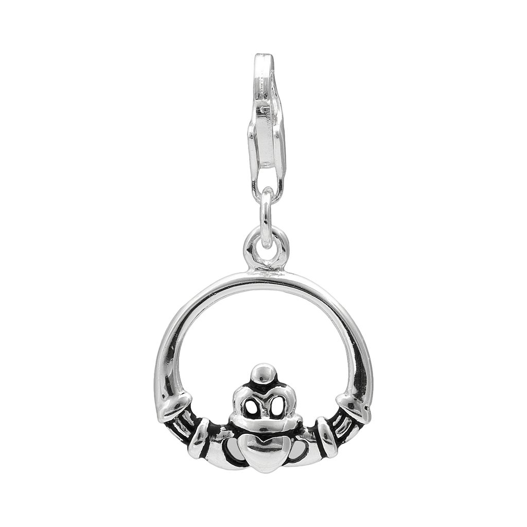 Personal Charm Sterling Silver Claddagh Charm