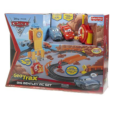 Disney/Pixar Cars 2 Geo Trax Big Bentley RC Set by Fisher-Price