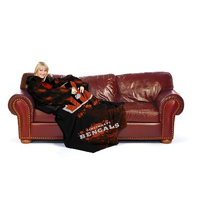 Cincinnati Bengals Fleece Comfy Throw Blanket with Sleeves by Northwest