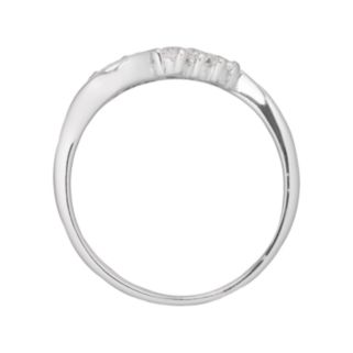 Sterling Silver Cubic Zirconia Wave Ring