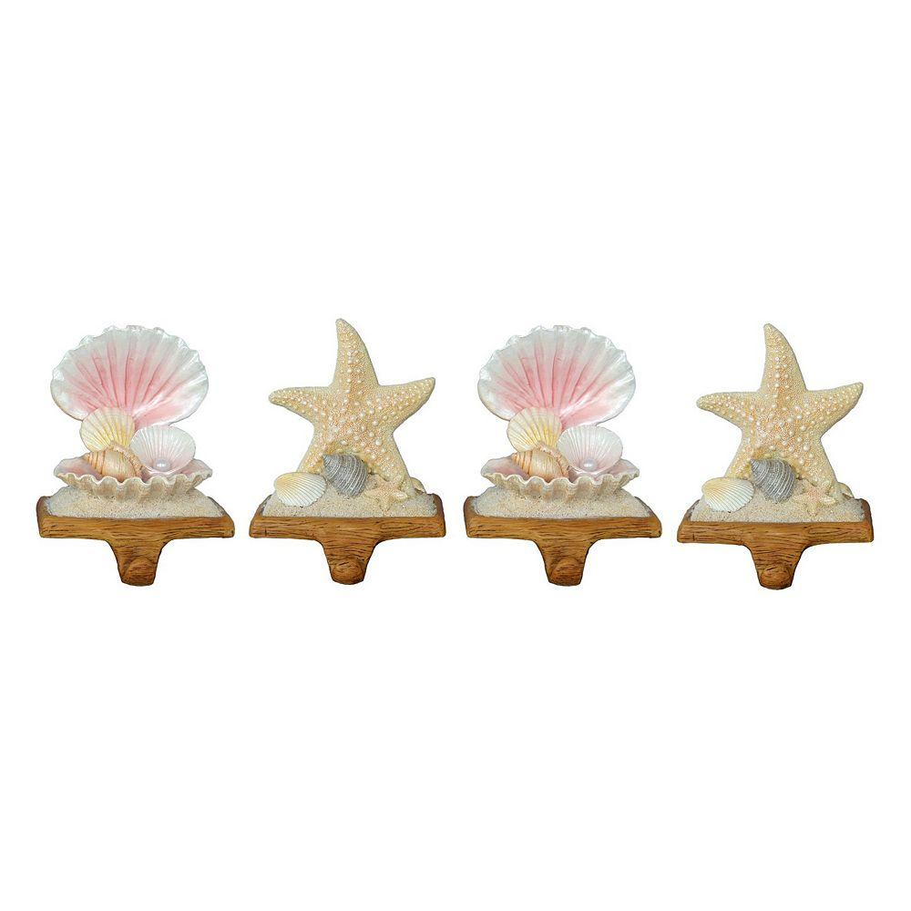 st nicholas 4 piece starfish shell christmas stocking. Black Bedroom Furniture Sets. Home Design Ideas
