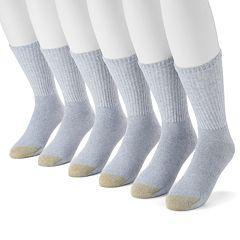 Men's GOLDTOE 6-pack Athletic Crew Socks