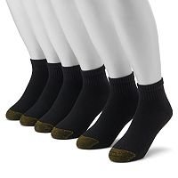 Men's GOLDTOE 6-pk. Cushioned 1/4-Crew Socks