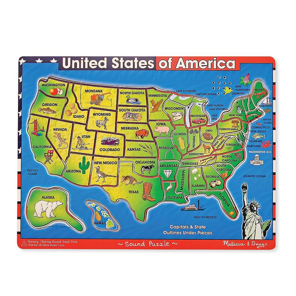 Melissa & Doug USA Map Sounds Wood Puzzle