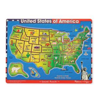 Melissa and Doug USA Map Sounds Wood Puzzle