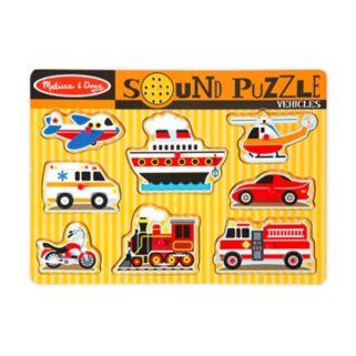 Melissa and Doug Vehicles Sound Puzzle