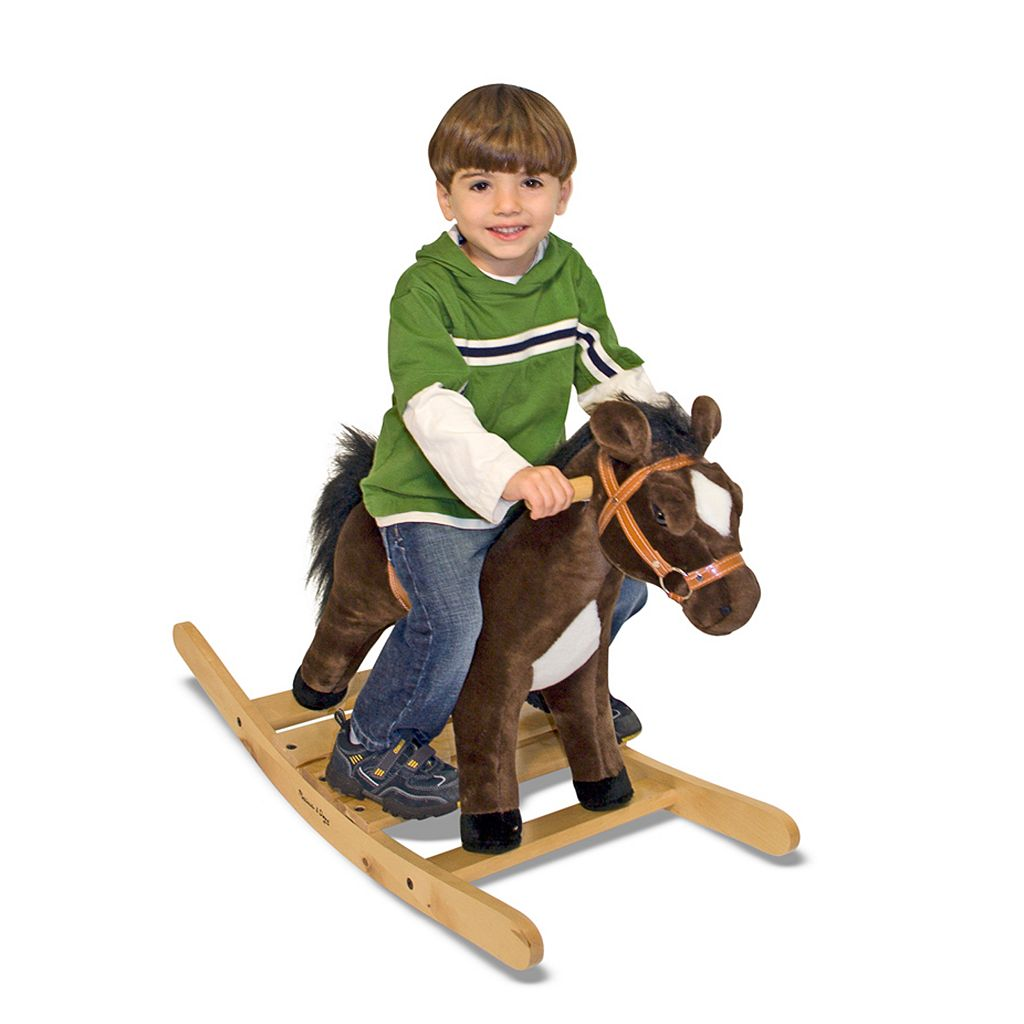 Melissa and Doug Rock and Trot Plush Rocking Horse