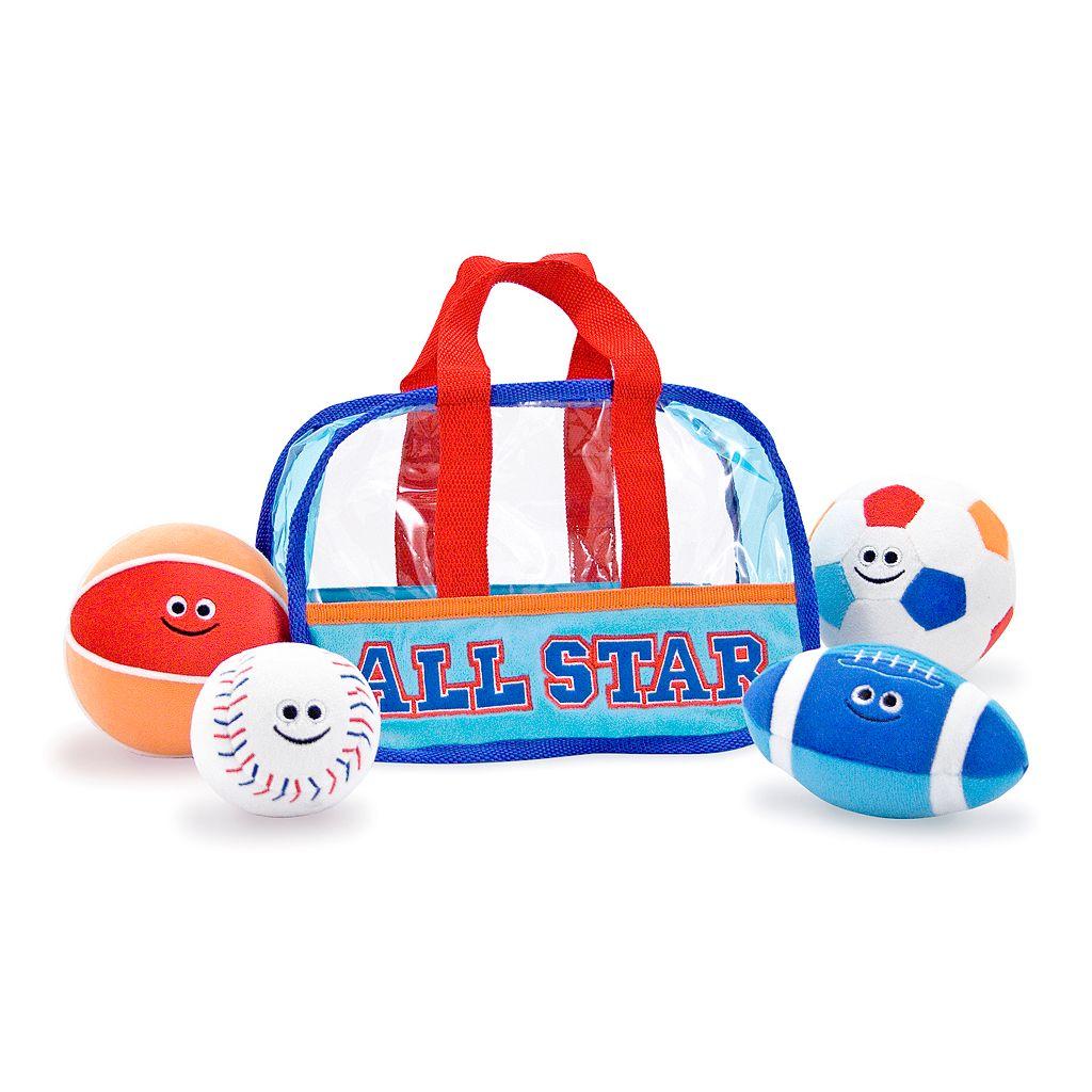 Melissa & Doug Plush Sports Bag Fill & Spill Set