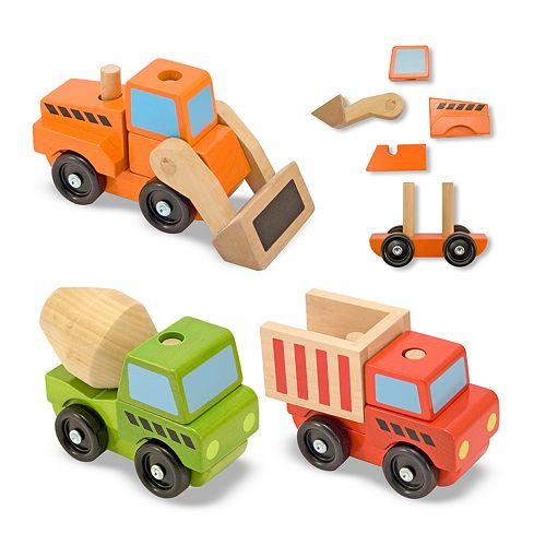 Melissa & Doug Stacking Construction Vehicles Set