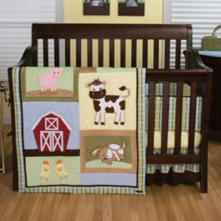 Trend Lab Baby Barnyard 4-pc. Crib Bedding Set
