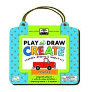 Innovative Kids Green Start Trucks Reusable Drawing and Magnet Kit