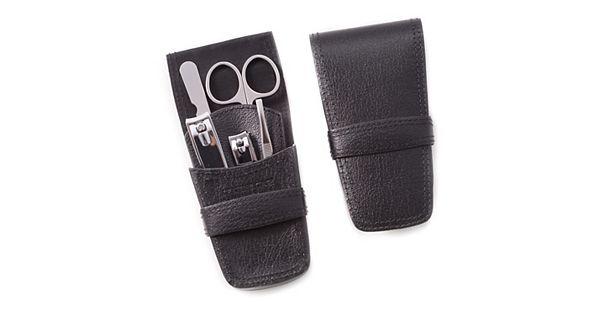 6 pc leather grooming kit. Black Bedroom Furniture Sets. Home Design Ideas