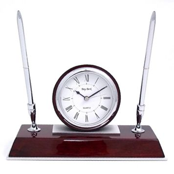 Desk Clock with Pens