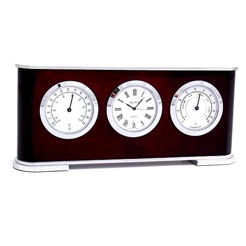 Wood Multifunction Desk Clock