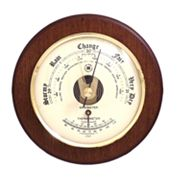 Wood Multifunction Wall Barometer
