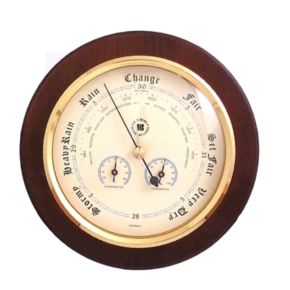 Wood Multifunction Wall Barometer