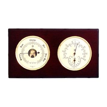 Wood Multifunction Wall Thermometer
