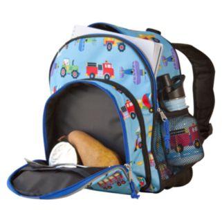 Wildkin Olive Kids Trains, Planes and Trucks Pack 'n Snack Backpack - Kids
