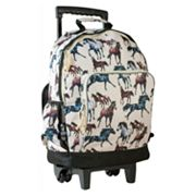 Wildkin Horse Dreams High Roller Wheeled Backpack - Kids