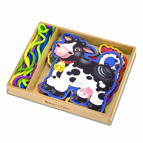 Melissa and Doug Farm Animals Lace and Trace Panels