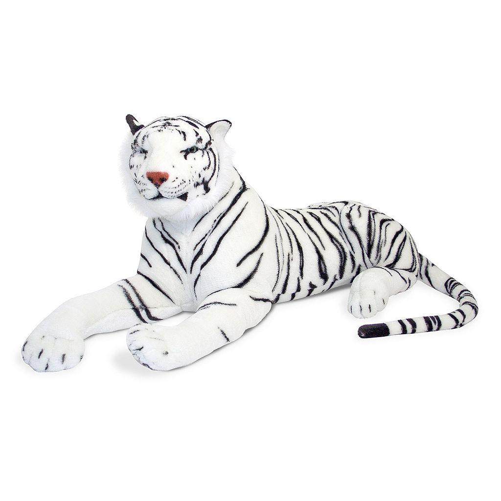 Melissa & Doug White Tiger Plush Toy