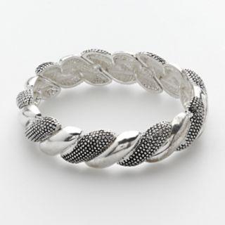 Napier Silver Tone Stretch Bracelet