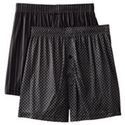 Croft and Barrow 2-pk. Patterned Microfiber Boxers
