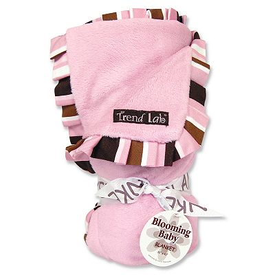 Trend Lab Ruffled Velour Receiving Blanket - Pink