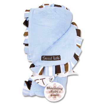 Trend Lab Ruffled Velour Receiving Blanket - Blue