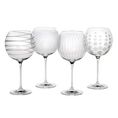 Mikasa Cheers 4 pc Balloon Wine Goblet Set