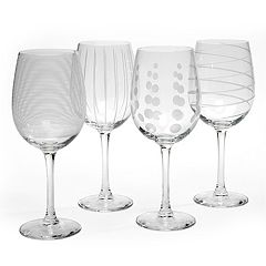 Mikasa Cheers 4 pc White Wine Glasses