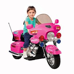National Products Police Motorcycle Ride-On Pink by