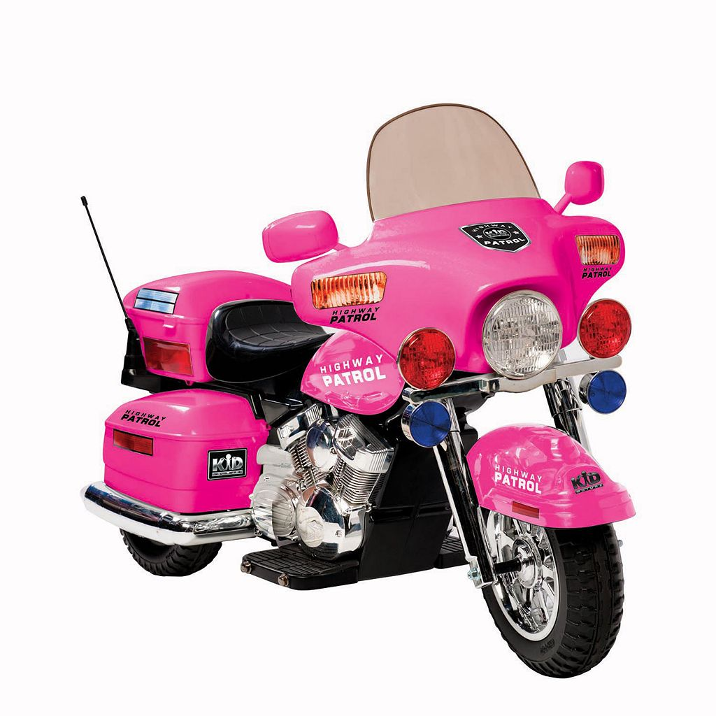 National Products Police Motorcycle Ride-On - Pink