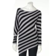 Derek Heart Striped Dolman Sweater