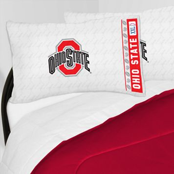 Ohio State Buckeyes Sheet Set - Queen