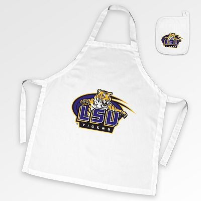 LSU Tigers Tailgate Apron and Potholder Set