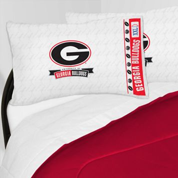 Georgia Bulldogs Sheet Set - Queen