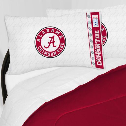 Alabama Crimson Tide Sheet Set - Queen