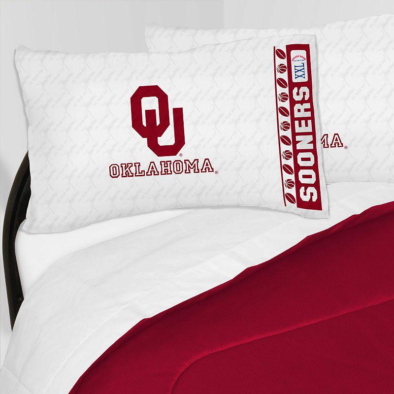 Oklahoma Sooners Sheet Set - Twin