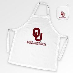 Oklahoma Sooners Tailgate Apron & Potholder Set