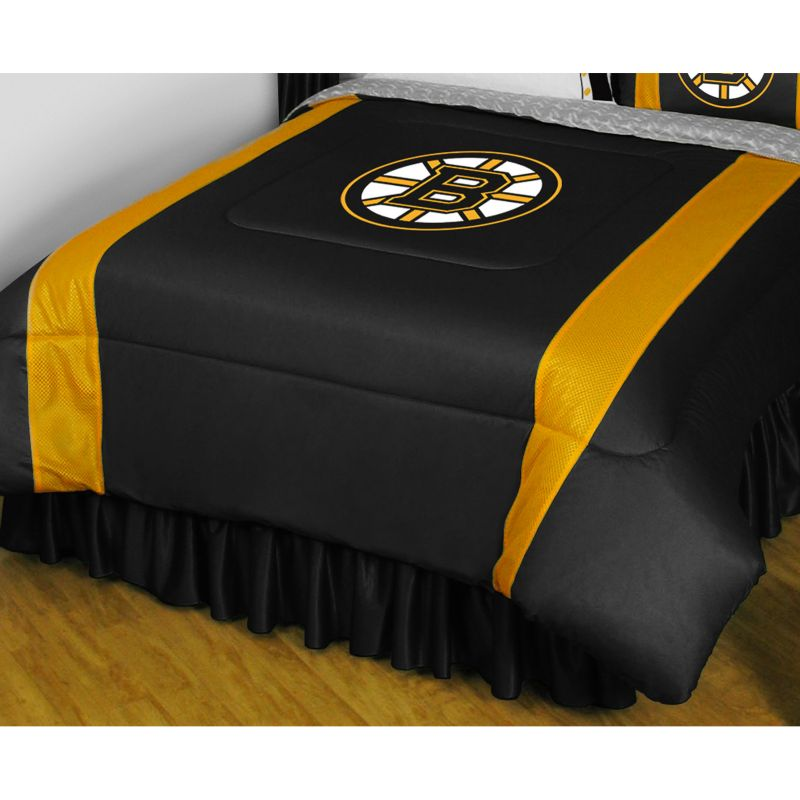 Boston Bruins Comforter - Twin, Black