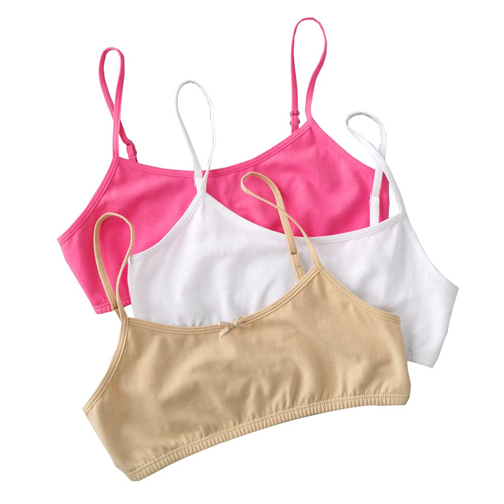 b0de0e19ff8 Girls 7-16 Maidenform 3-pk. Crop Bras