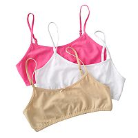Girls 7-16 Maidenform 3 pkCrop Bras