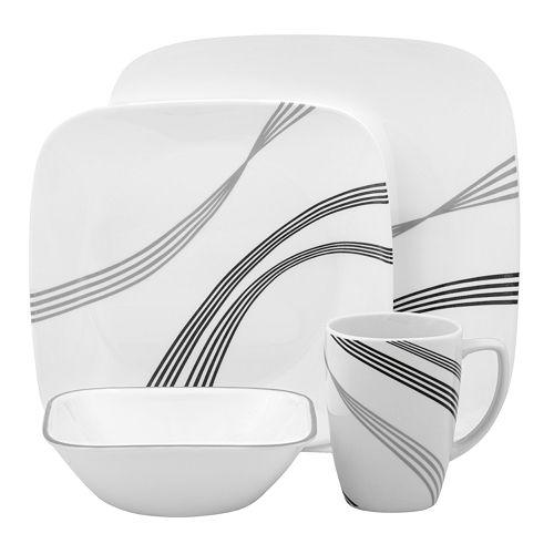 corelle urban arc square 16 pc dinnerware set