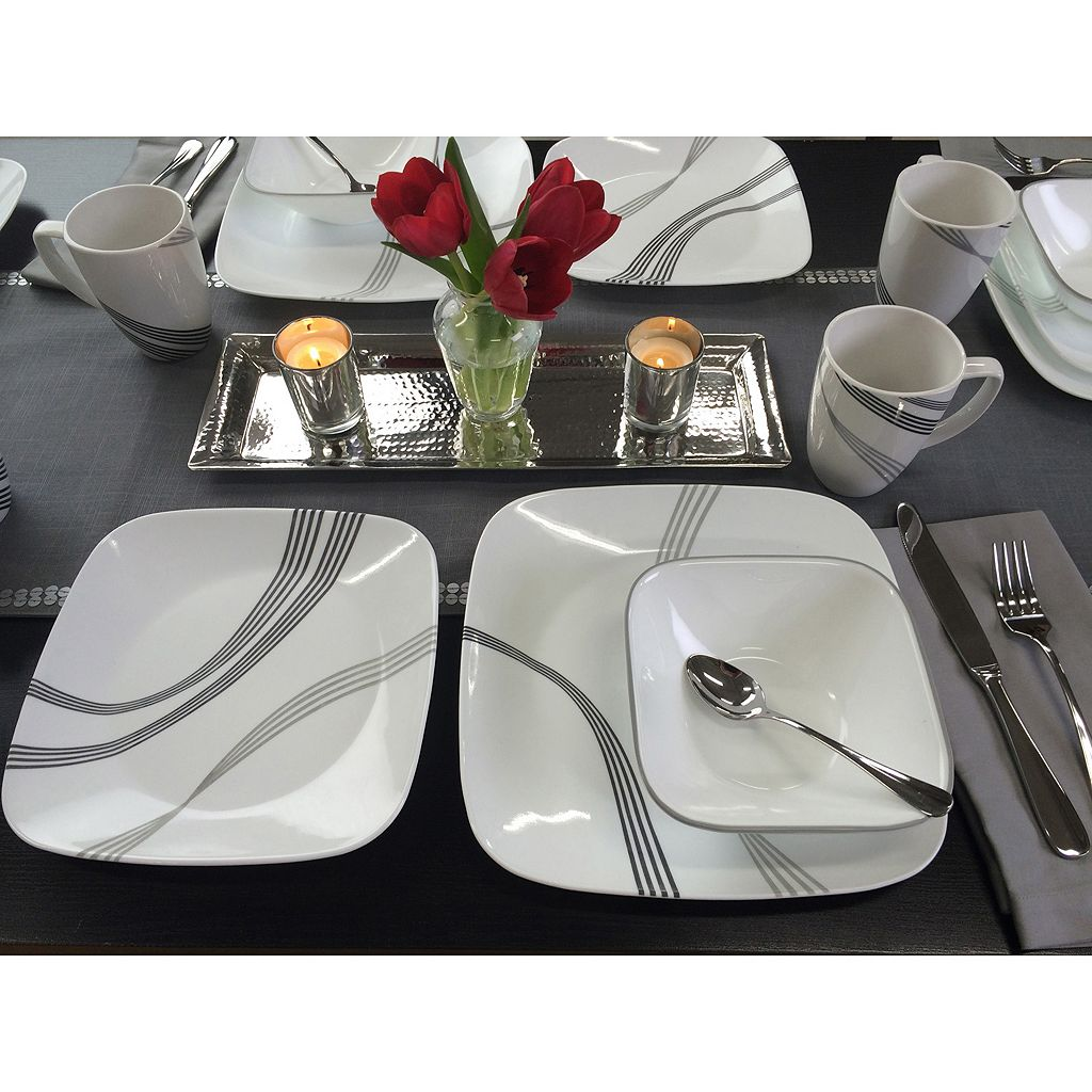 Corelle Urban Arc Square 16-pc. Dinnerware Set