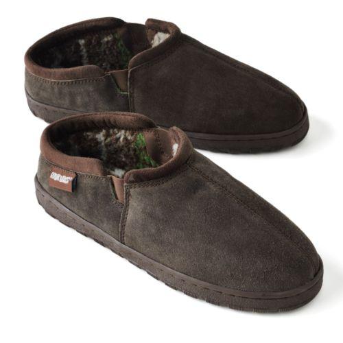 MUK LUKS Leather Berber Fleece Clog Slippers - Men