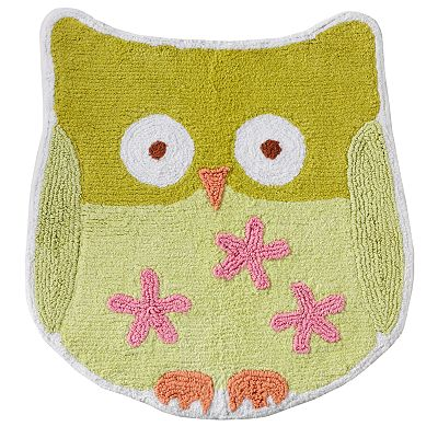 Jumping Beans Owl Friends Bath Rug