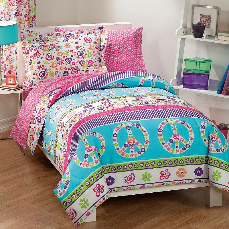 Dream Factory Peace and Love 7-pc. Bed Set - Full
