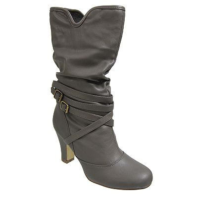Journee Collection Kaki Midcalf Boots - Women